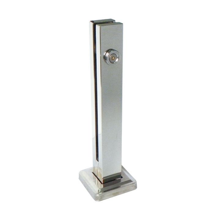 Torre vertical guarda corpo para vidro em aço inox 304 escovado
