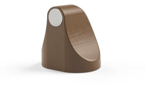 Trava Porta Magnético Cor Marrom Claro Comfortdoor Com Imã
