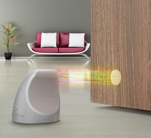 Trava Porta Magnético Cor Preto Fosco Comfortdoor Com Imã