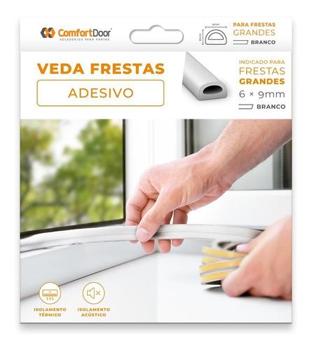 Veda Fresta Adesiva Janela Porta 6mm Branco - 6 Metros
