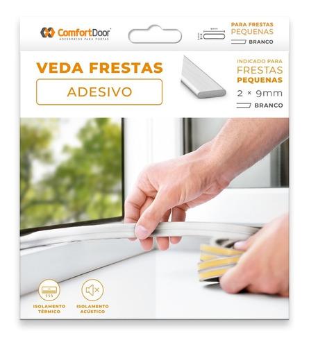 Veda Fresta Adesiva Janela Porta 2mm Branco - 6 Metros