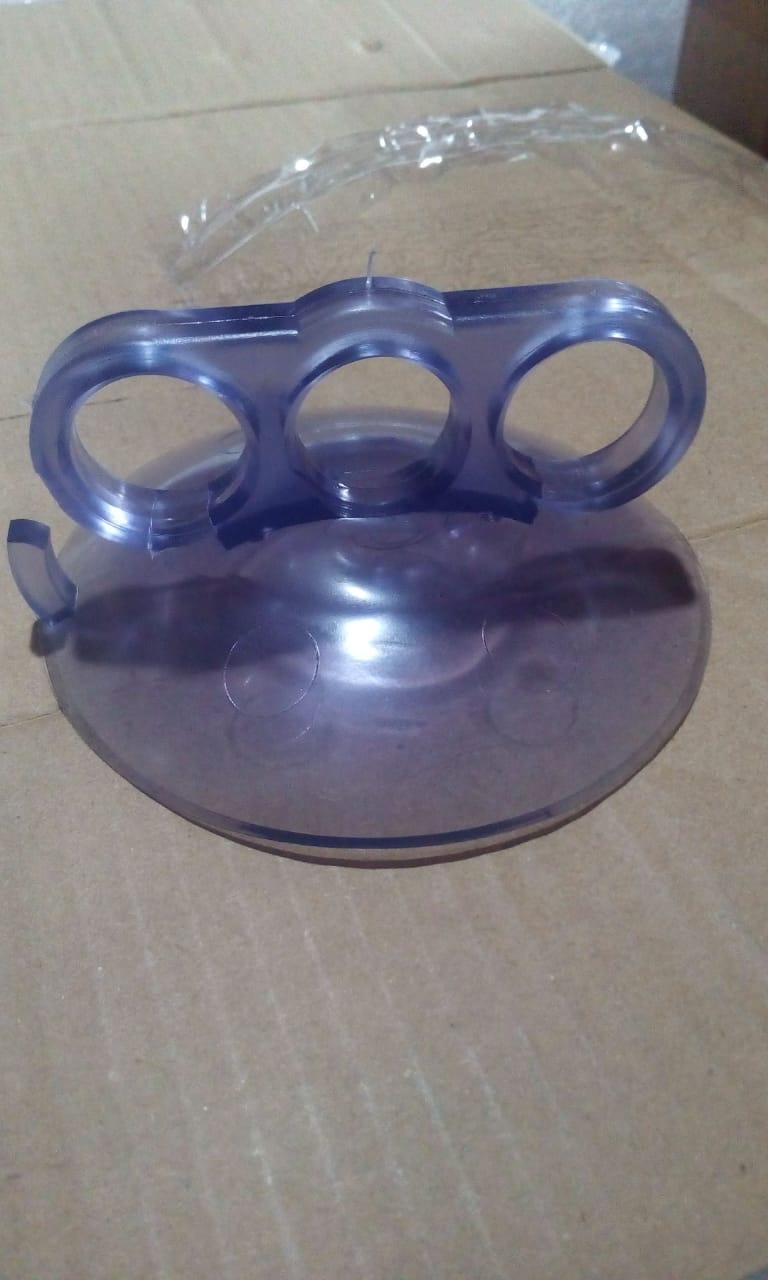Ventosa manual de silicone com pegador 3 dedos - 4 unidades