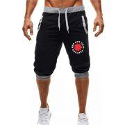 Bermuda Jogger Moletom Masculina 3/4 Red Hot Chili Peppers ER_016