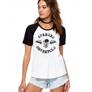 Camiseta Fem Raglan Avenged Sevenfold Logo ES_023