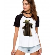Camiseta Fem Raglan Star Wars Mestre Yoda ES_077