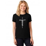 Camiseta Feminina Cristã T-Shirt Jesus ER_111