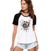 Camiseta Feminina Raglan Supernatural ES_098