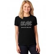 Camiseta Feminina T-Shirt Banda AC DC Back In Black ER_154