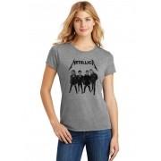 Camiseta Feminina T-Shirt Banda Metallica ES_205