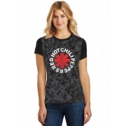 Camiseta Feminina T-Shirt Full Printed Banda Red Hot Chili Peppers Logo Baby Look FP_027