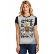 Camiseta Feminina T-Shirt Full Printed Homer Simpson Baby Look FP_021