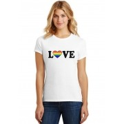 Camiseta Feminina T-Shirt LGBT Love Baby Look ES_153
