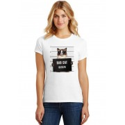 Camiseta Feminina T-Shirt Pets Bad Cat Siames ES_198