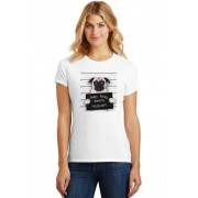 Camiseta Feminina T-Shirt Pets Bad Dog Pug ES_194