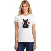 Camiseta Feminina T-Shirt Pets Bulldog Francês Guilty Of Love ES_195
