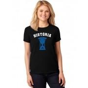 Camiseta Feminina T-Shirt Universitária Faculdade História