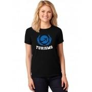 Camiseta Feminina T-Shirt Universitária Faculdade Turismo