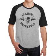 Camiseta Masc Raglan Avenged Sevenfold Logo ES_023