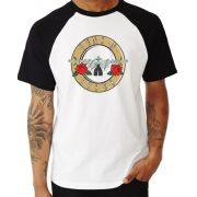 Camiseta Masc Raglan Guns n' Roses Logo ES_011