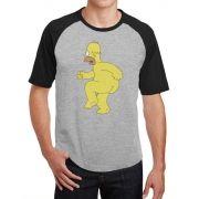 Camiseta Masc Raglan Homer Simpson Pelado ES_029
