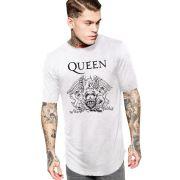 Camiseta Masculina Oversized Long Line Banda Queen ES_056