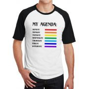 Camiseta Masculina Raglan LGBT My Agenda ES_156
