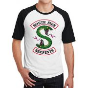 Camiseta Masculina Raglan Riverdale South Side Serpents Jughead ES_165