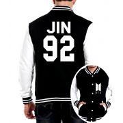 Jaqueta College Masculina Kpop BTS Integrantes Jin 92 ER_108