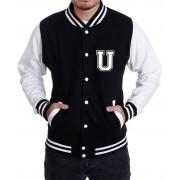Jaqueta College Masculina Universitária Americana - Letra U