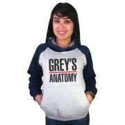 Moletom Canguru Feminino Raglan Grey's Anatomy ER_036
