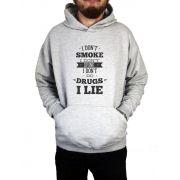 Moletom Canguru Masculino I Don't Do Drugs I Lie ER_031