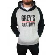 Moletom Canguru Masculino Raglan Grey's Anatomy ER_036