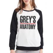 Moletom Raglan Feminino Grey's Anatomy ES_090