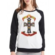 Moletom Raglan Feminino Guns n' Roses - Appetite For Destruction ES_099
