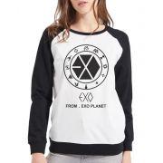 Moletom Raglan Feminino Kpop Exo From Exo Planet ES_102