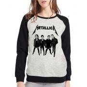 Moletom Raglan Feminino Mescla Banda Metallica  ES_205