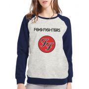Moletom Raglan Feminino Mescla Foo Fighters ES_106