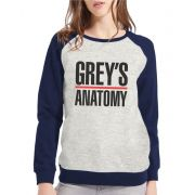 Moletom Raglan Feminino Mescla Grey's Anatomy ES_090