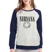 Moletom Raglan Feminino Mescla Nirvana ES_088