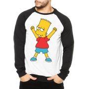 Moletom Raglan Masculino Bart Simpson Comemorando ES_037