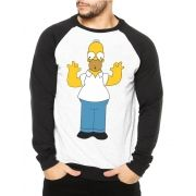 Moletom Raglan Masculino Homer Simpson ES_028