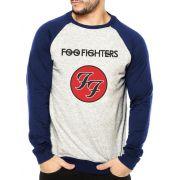 Moletom Raglan Masculino Mescla Banda Foo Fighters ES_106