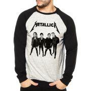 Moletom Raglan Masculino Mescla Banda Metallica  ES_205