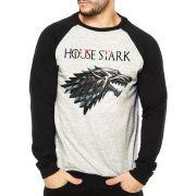 Moletom Raglan Masculino Mescla Game Of Thrones House Stark ES_178