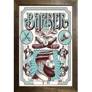 Quadro Decorativo Barbearia MDF 50 x 35 A003