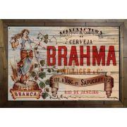 Quadro Decorativo Brahma MDF 50 x 35cm B090