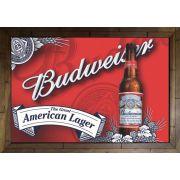 Quadro Decorativo Cerveja Budweiser MDF 50 x 35 B044
