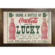 Quadro Decorativo Coca Cola MDF 50 x 35 B013
