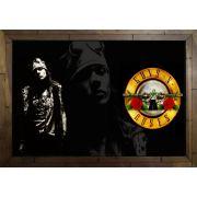 Quadro Decorativo Guns N' Roses MDF 50 x 35 M061
