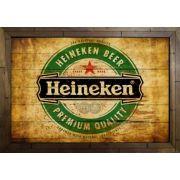 Quadro Decorativo Heineken MDF 50 x 35 B089